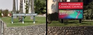 Holy Redeemer Church LED Sign